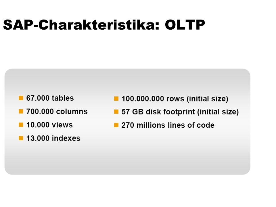 SAP-Charakteristika: OLTP