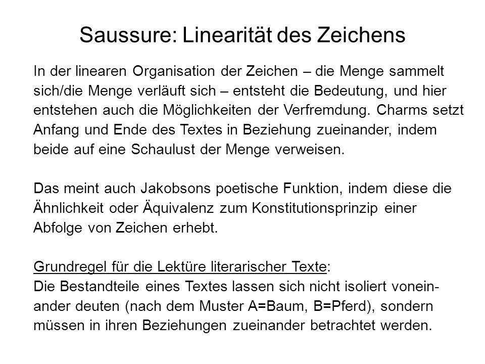 Saussure: Linearität des Zeichens