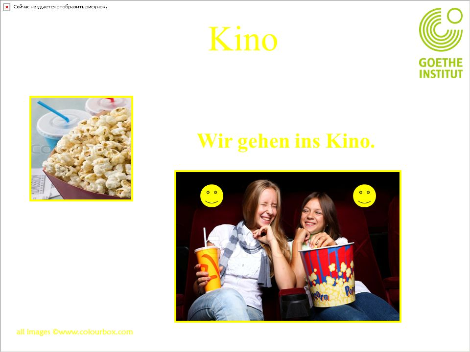 Kino Wir gehen ins Kino. all images ©www.colourbox.com