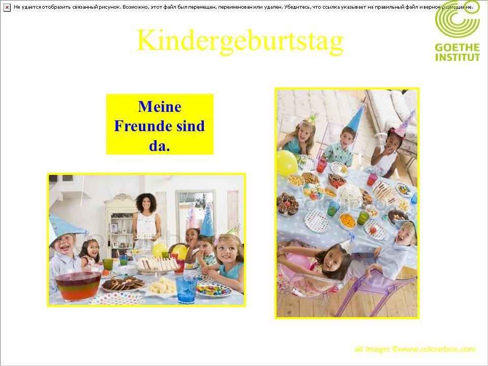 Kindergeburtstag Meine Freunde sind da. all images ©www.colourbox.com