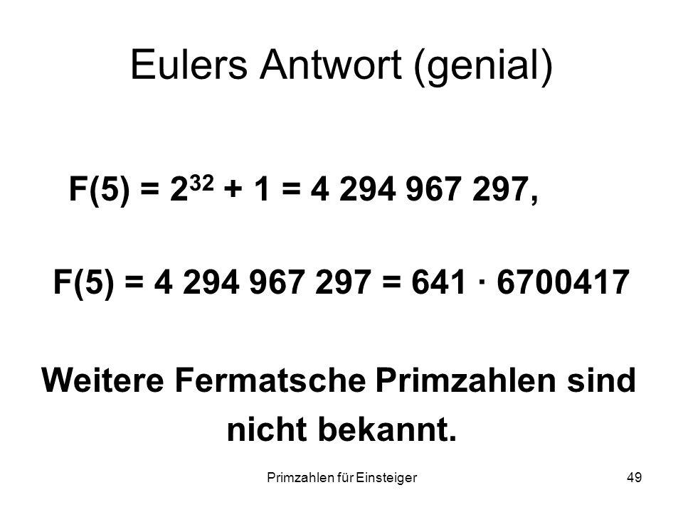 Eulers Antwort (genial)