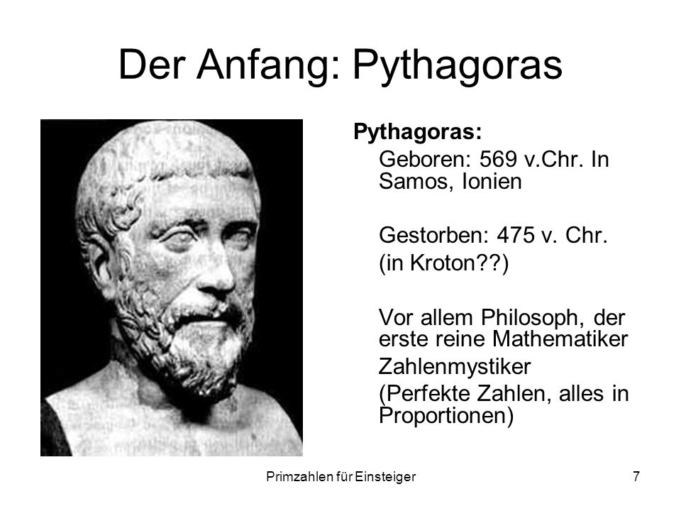 Der Anfang: Pythagoras