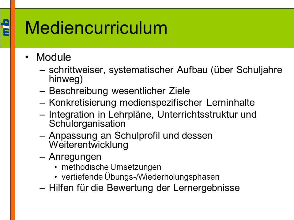 Mediencurriculum Module