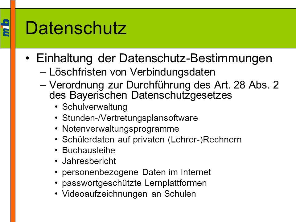 Datenschutz Einhaltung der Datenschutz-Bestimmungen