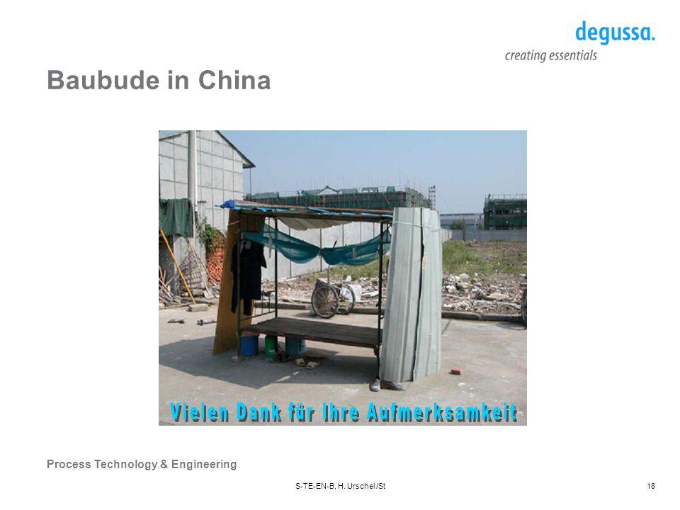 Baubude in China Vielen Dank für Ihre Aufmerksamkeit
