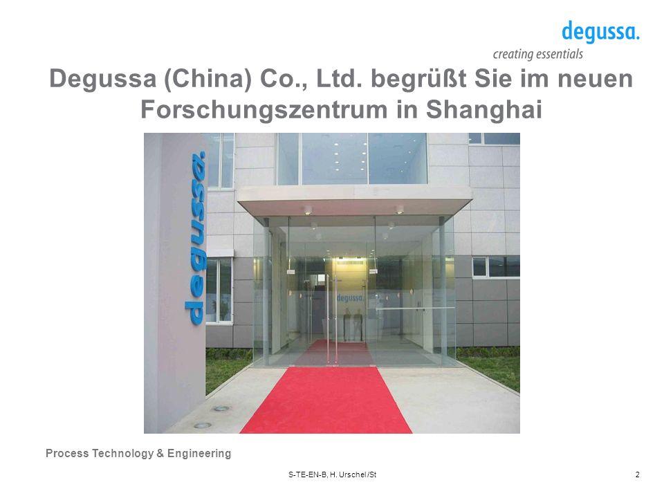 Degussa (China) Co., Ltd. begrüßt Sie im neuen Forschungszentrum in Shanghai