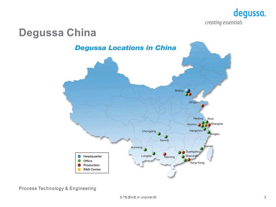 Degussa China S-TE-EN-B, H. Urschel /St Datum