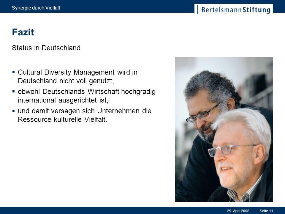 Fazit Status in Deutschland