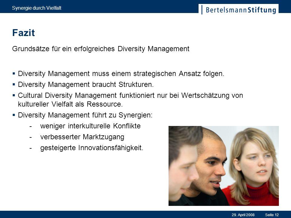 Fazit Grundsätze für ein erfolgreiches Diversity Management