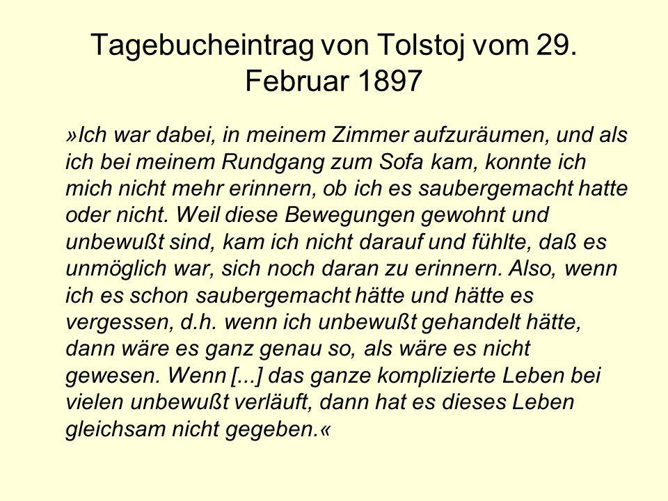 Tagebucheintrag von Tolstoj vom 29. Februar 1897