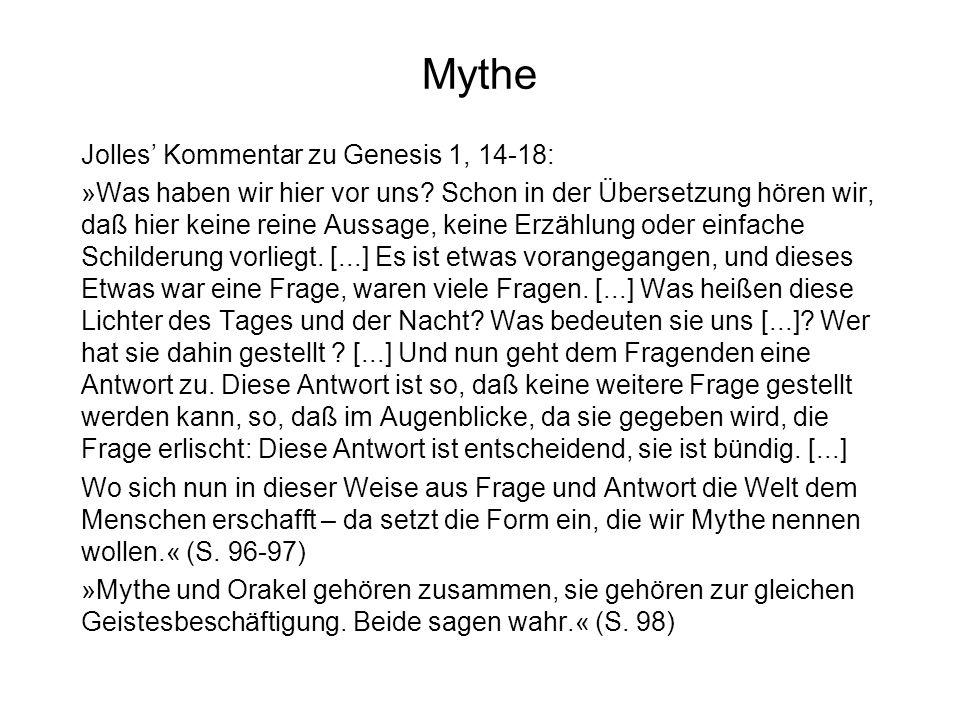 Mythe Jolles' Kommentar zu Genesis 1, 14-18: