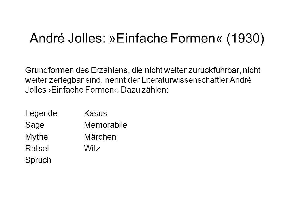 André Jolles: »Einfache Formen« (1930)