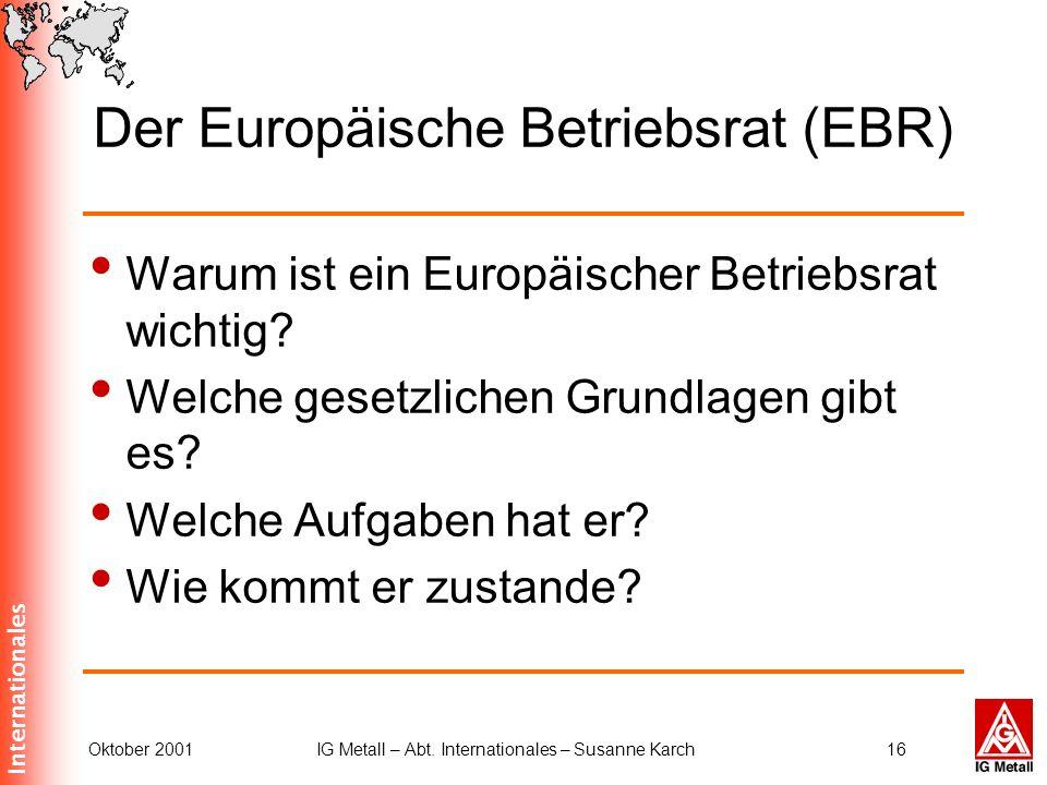 Der Europäische Betriebsrat (EBR)