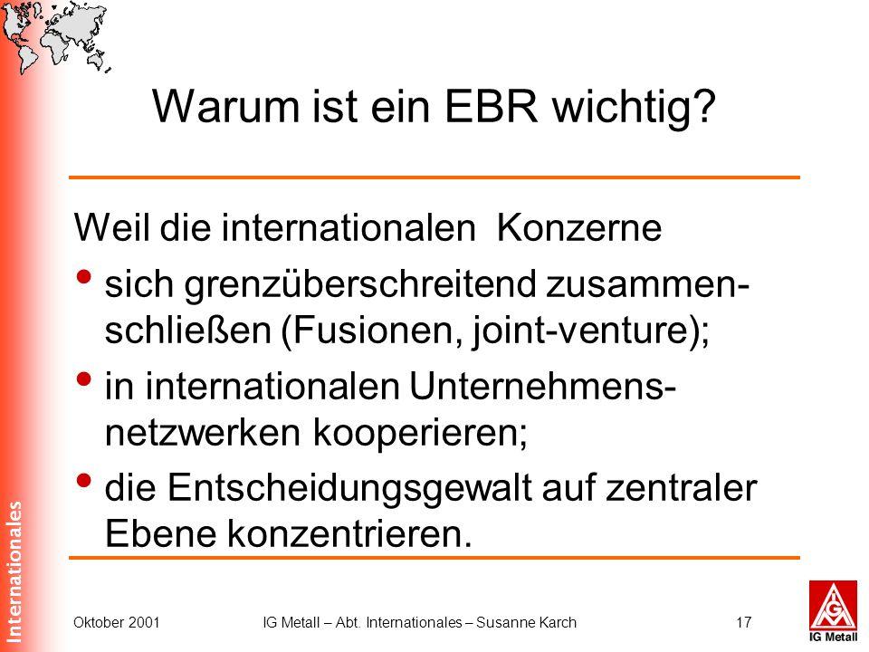 Warum ist ein EBR wichtig
