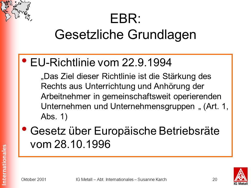 EBR: Gesetzliche Grundlagen