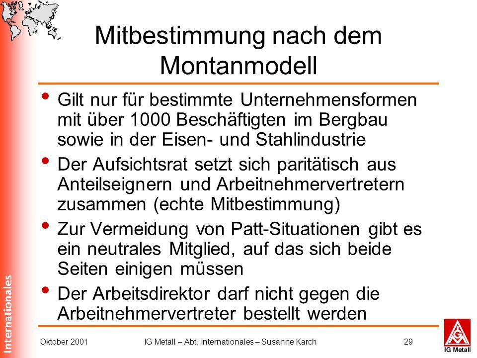 Mitbestimmung nach dem Montanmodell