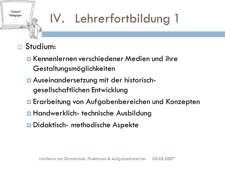 Lehrerfortbildung 1 Studium: