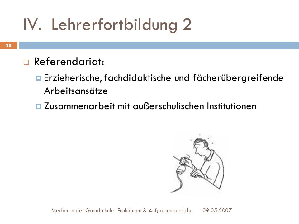 Lehrerfortbildung 2 Referendariat: