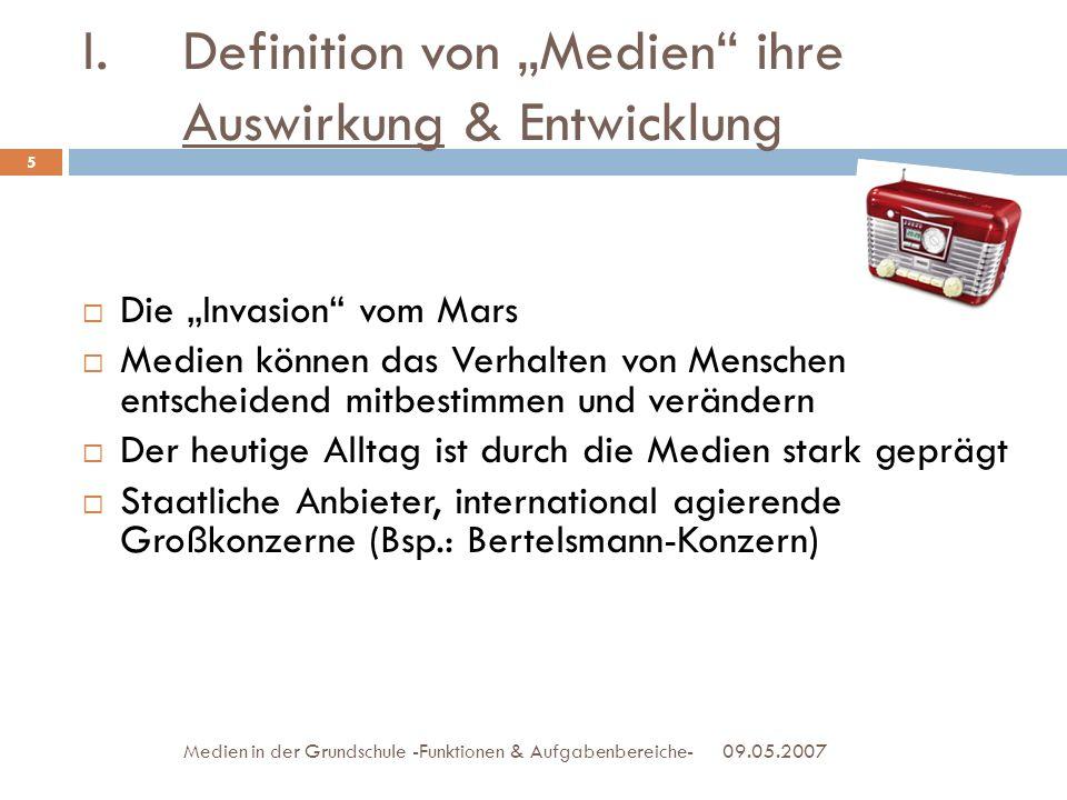 """Definition von """"Medien ihre Auswirkung & Entwicklung"""