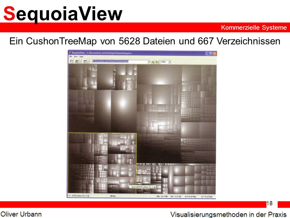 Ein CushonTreeMap von 5628 Dateien und 667 Verzeichnissen