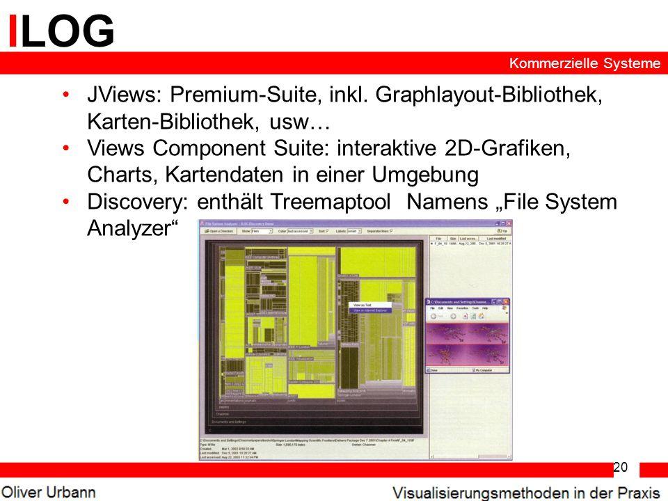 ILOG Kommerzielle Systeme. JViews: Premium-Suite, inkl. Graphlayout-Bibliothek, Karten-Bibliothek, usw…
