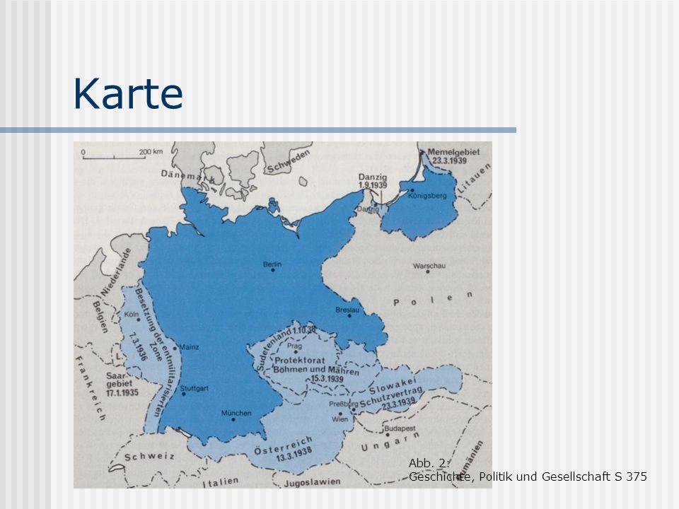 Karte Abb. 2: Geschichte, Politik und Gesellschaft S 375