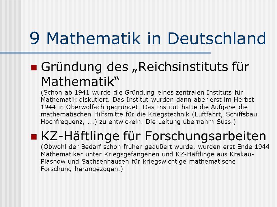 9 Mathematik in Deutschland