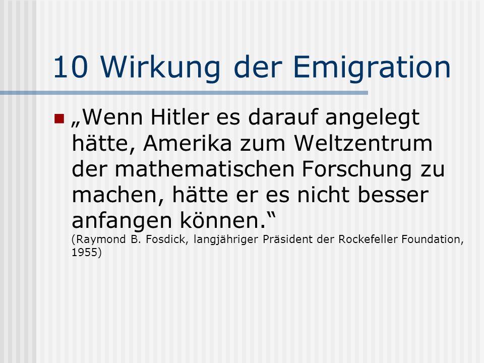 10 Wirkung der Emigration