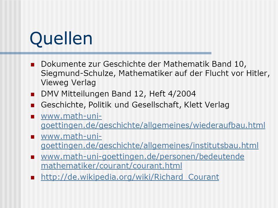 Quellen Dokumente zur Geschichte der Mathematik Band 10, Siegmund-Schulze, Mathematiker auf der Flucht vor Hitler, Vieweg Verlag.