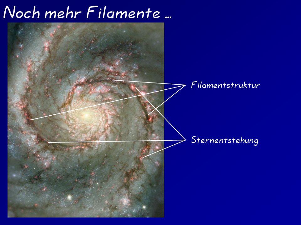Noch mehr Filamente ... Filamentstruktur Sternentstehung