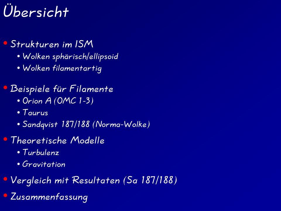 Übersicht Strukturen im ISM Beispiele für Filamente