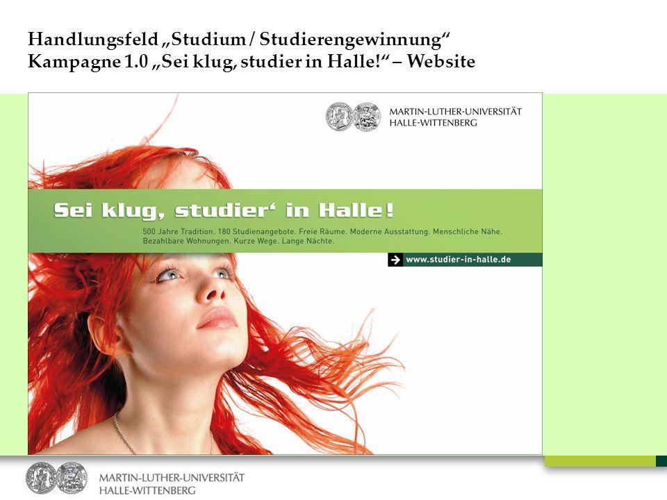 "Handlungsfeld ""Studium / Studierengewinnung"