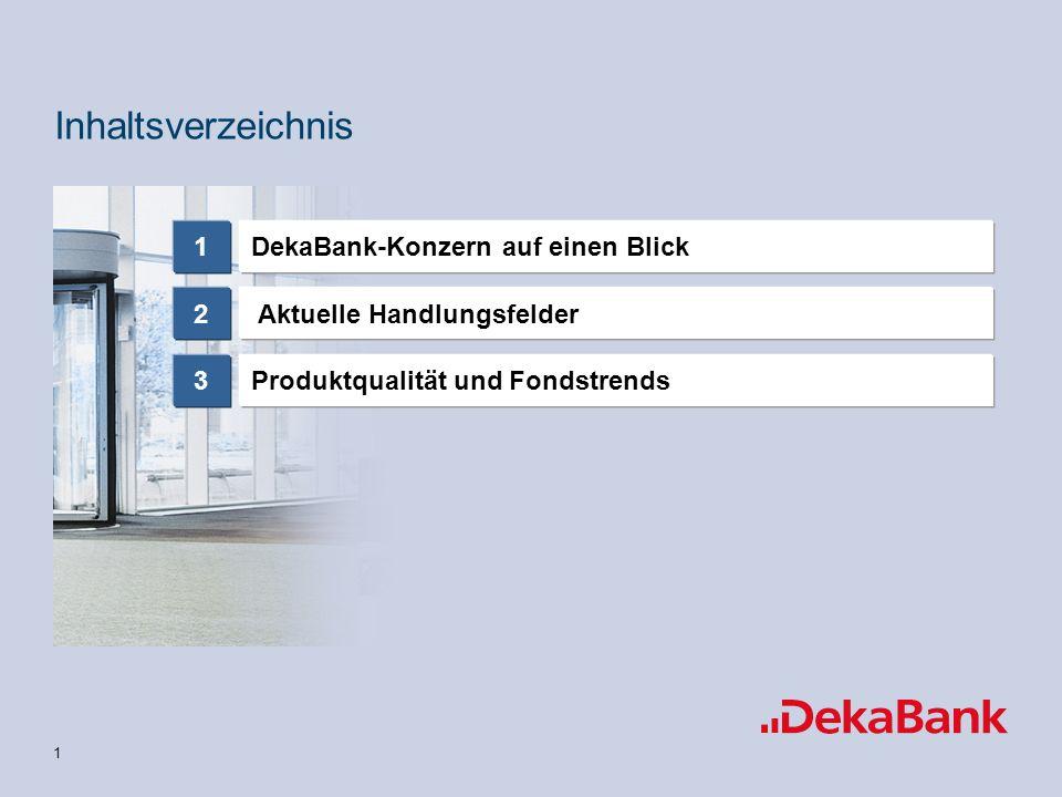 Inhaltsverzeichnis DekaBank-Konzern auf einen Blick 1 2