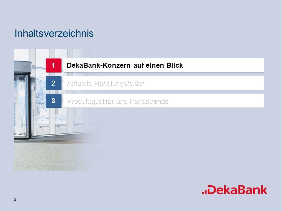 Inhaltsverzeichnis 1 DekaBank-Konzern auf einen Blick 2