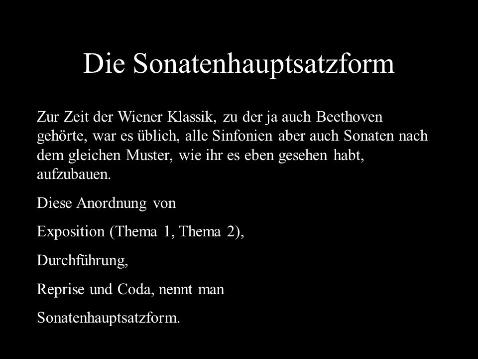 Die Sonatenhauptsatzform