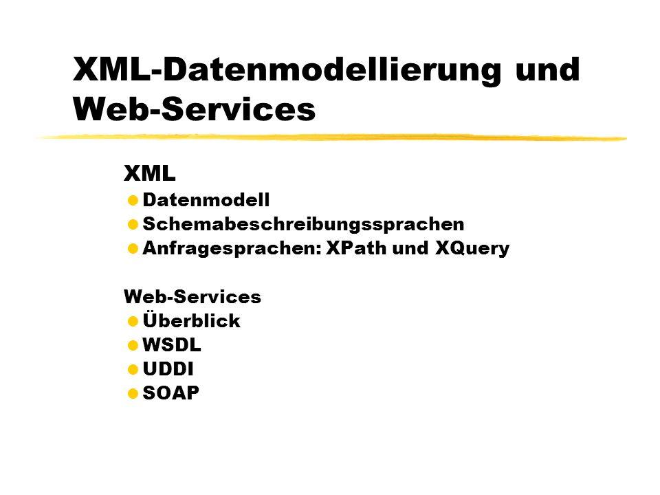 XML-Datenmodellierung und Web-Services