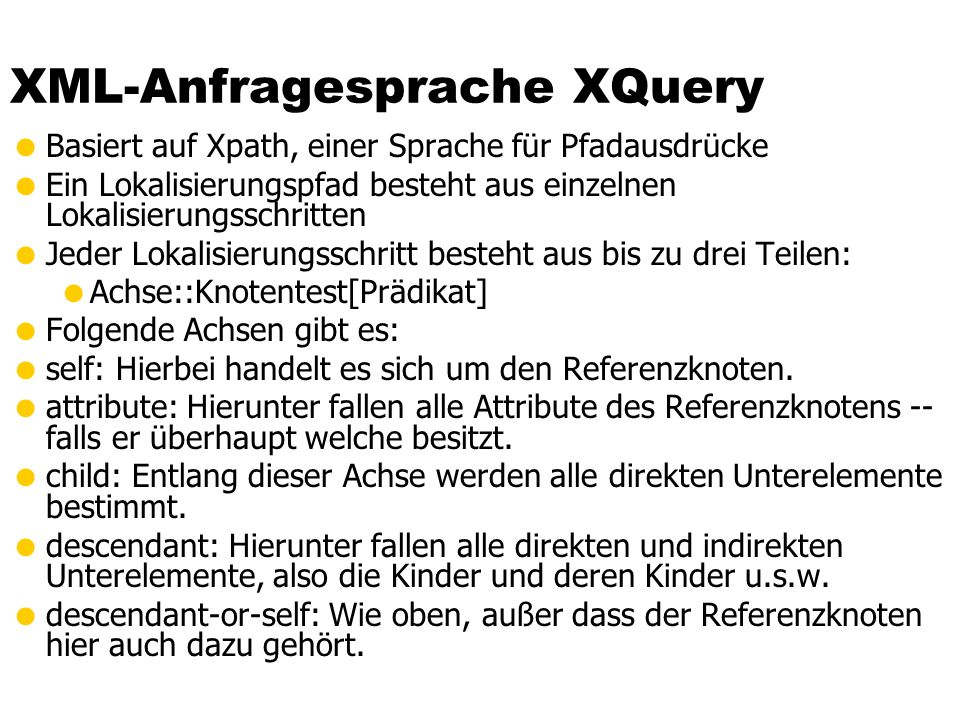 XML-Anfragesprache XQuery