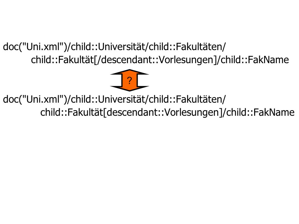 doc( Uni.xml )/child::Universität/child::Fakultäten/