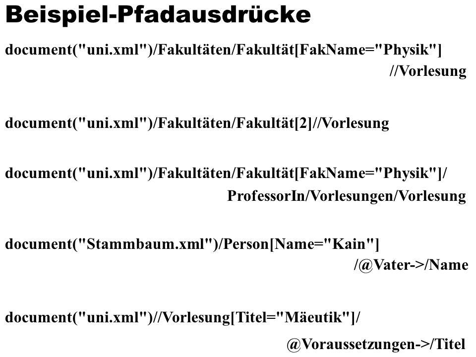 Beispiel-Pfadausdrücke