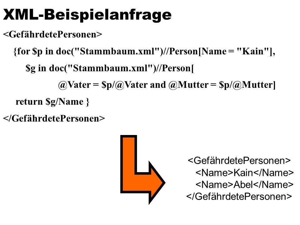 XML-Beispielanfrage <GefährdetePersonen>