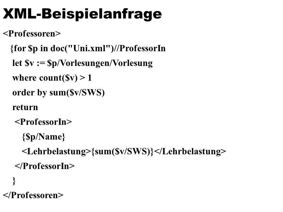 XML-Beispielanfrage <Professoren>