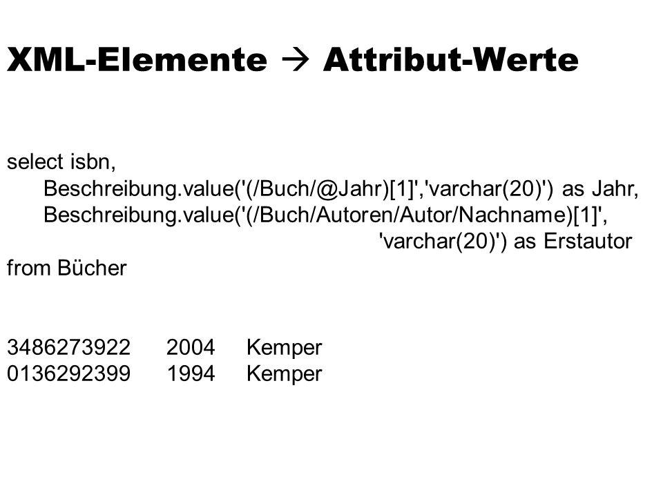 XML-Elemente  Attribut-Werte