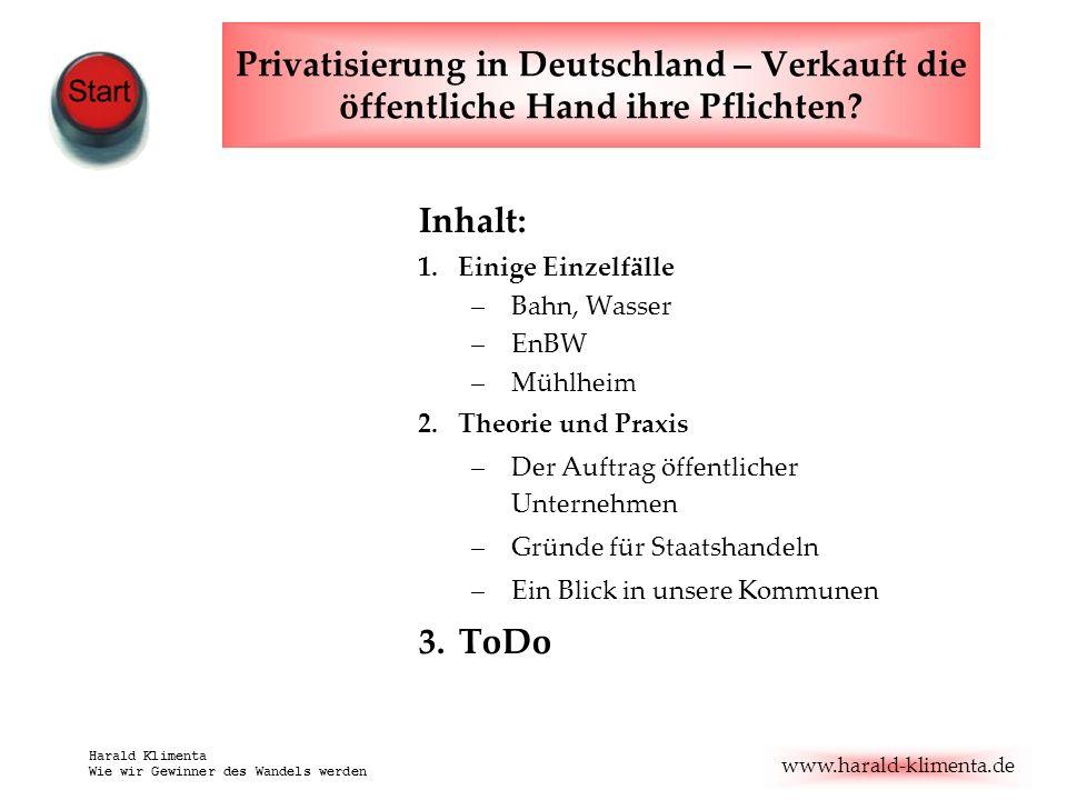 Privatisierung in Deutschland – Verkauft die öffentliche Hand ihre Pflichten