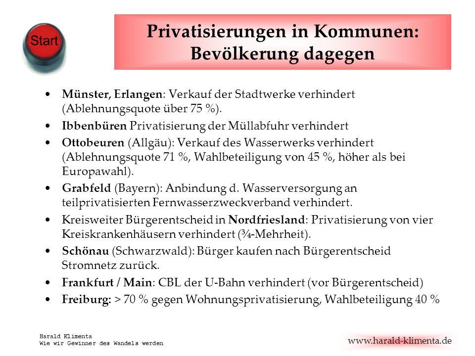 Privatisierungen in Kommunen: Bevölkerung dagegen