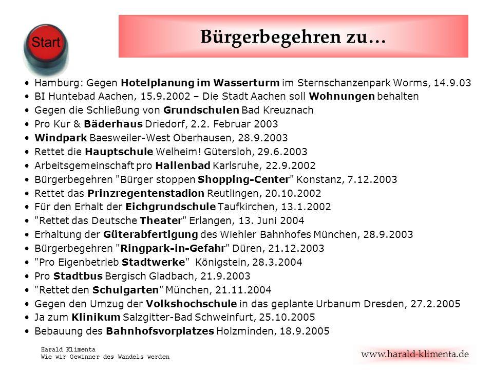 Bürgerbegehren zu… Hamburg: Gegen Hotelplanung im Wasserturm im Sternschanzenpark Worms, 14.9.03.