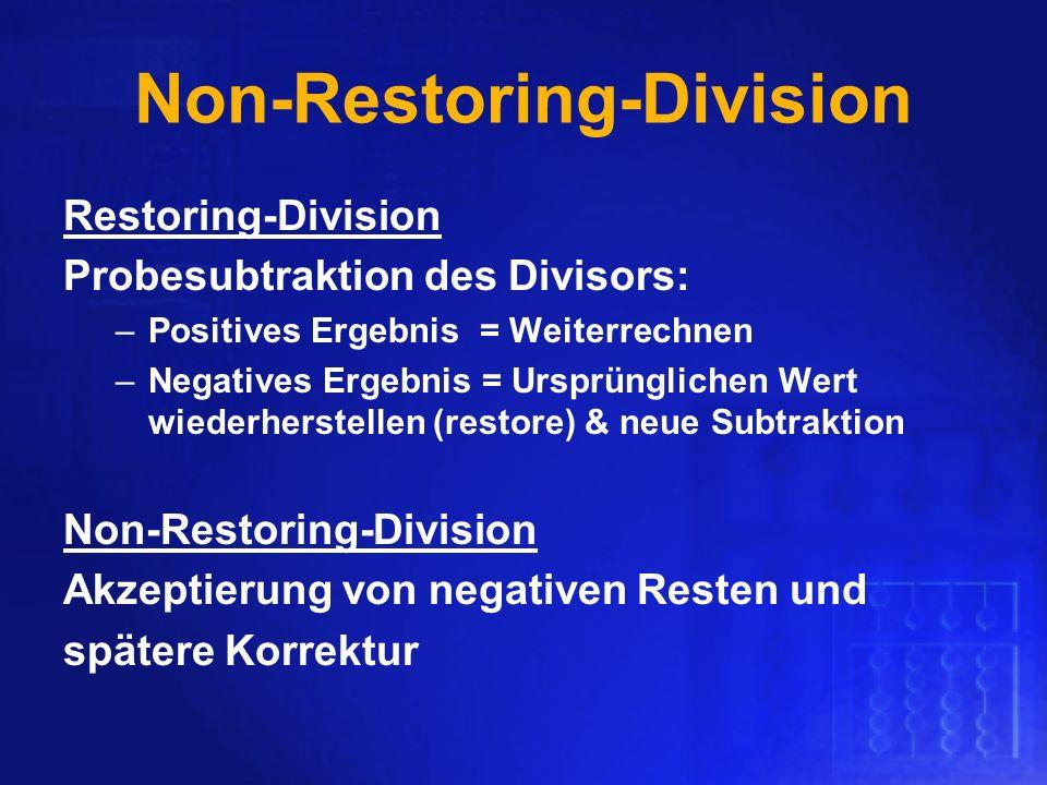 Non-Restoring-Division