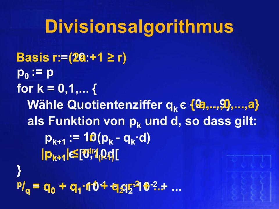 Divisionsalgorithmus