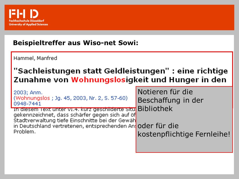 Beispieltreffer aus Wiso-net Sowi:
