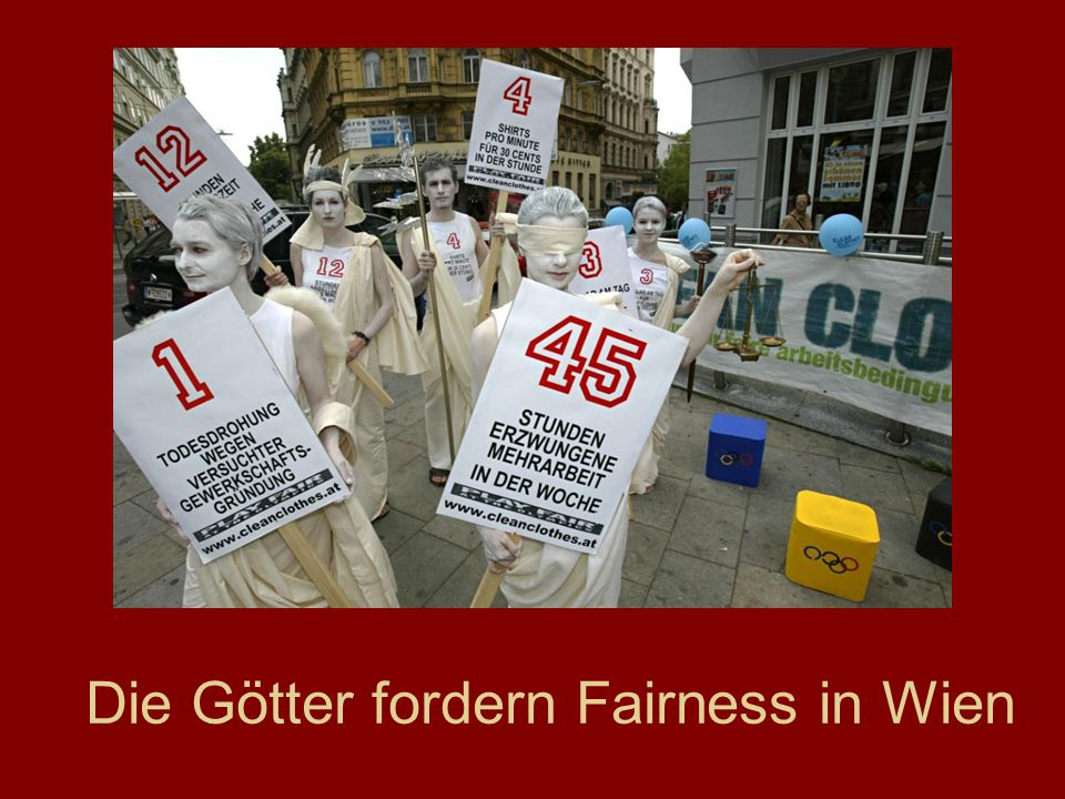 Die Götter fordern Fairness in Wien
