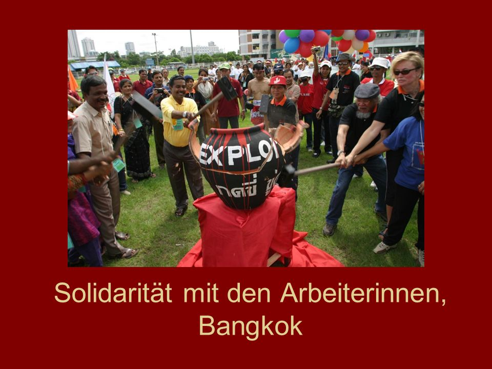 Solidarität mit den Arbeiterinnen, Bangkok